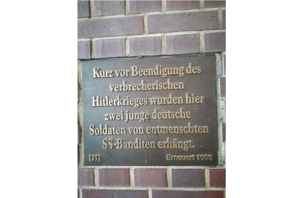 Plaquette Vermoordde Duitse Soldaten