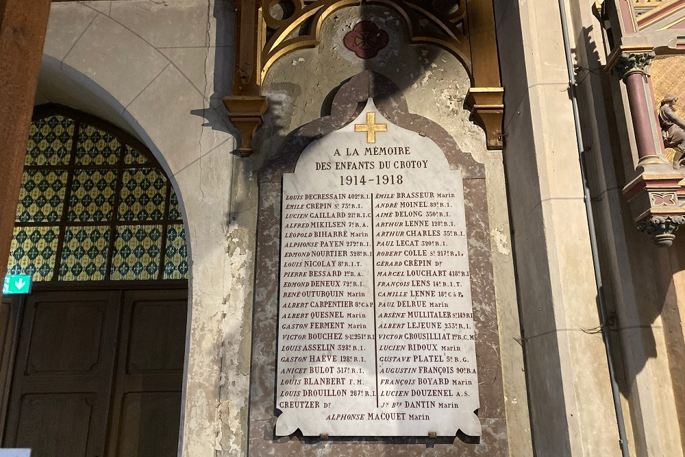 Plaquettes Oorlogsslachtoffers Eglise Saint Pierre, Le Crotoy
