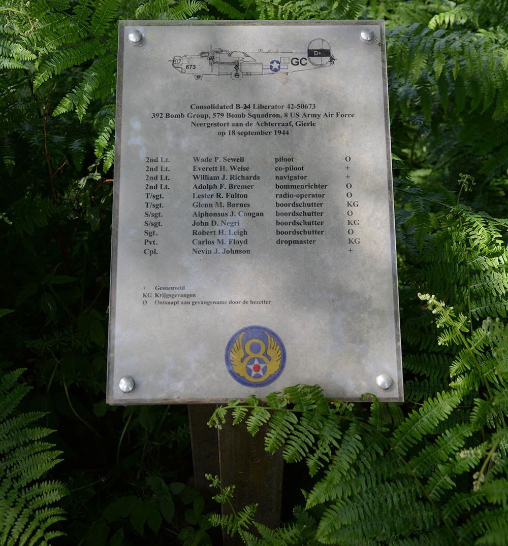 Monument Consolidated B-24 Liberator 42-50673