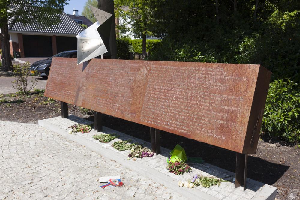 Amstelveen herdacht de Holocaust bij het 'Nooit meer teruggekomen' monument