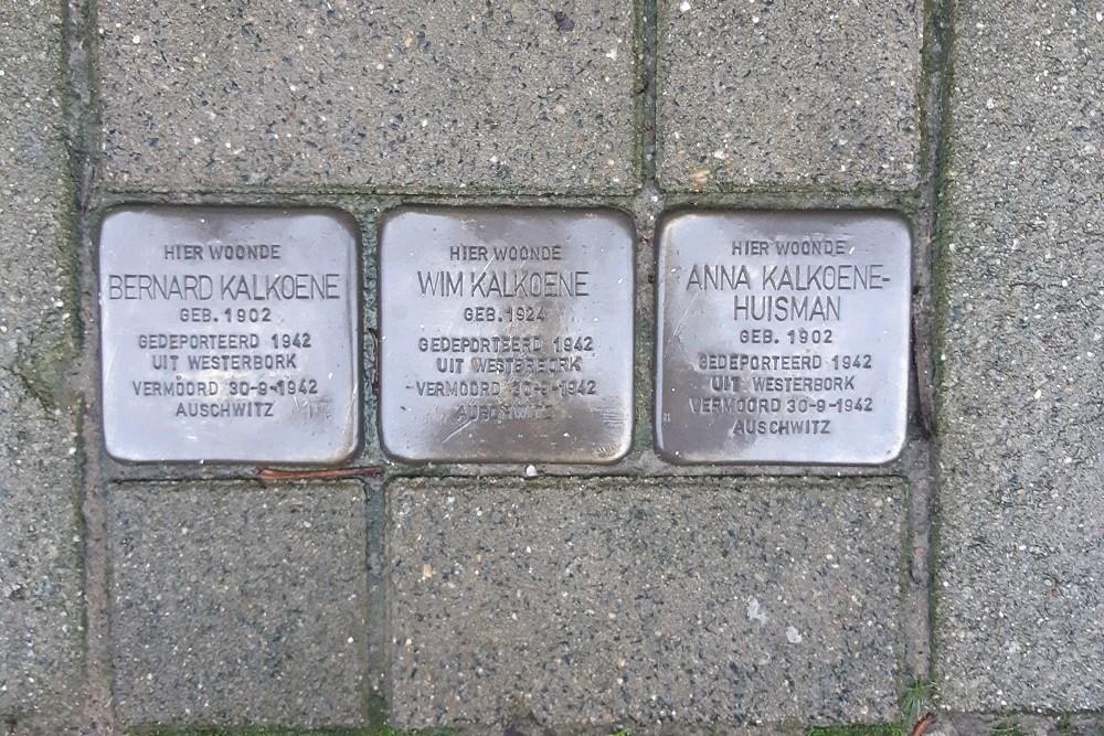 Stolpersteine Valckenierstraat 3-l