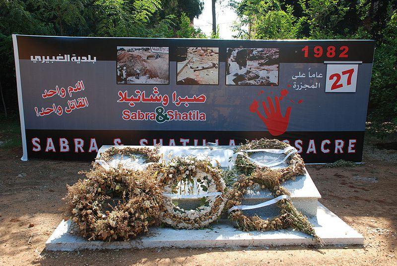 Monument en Massagraf Sabra en Shatila