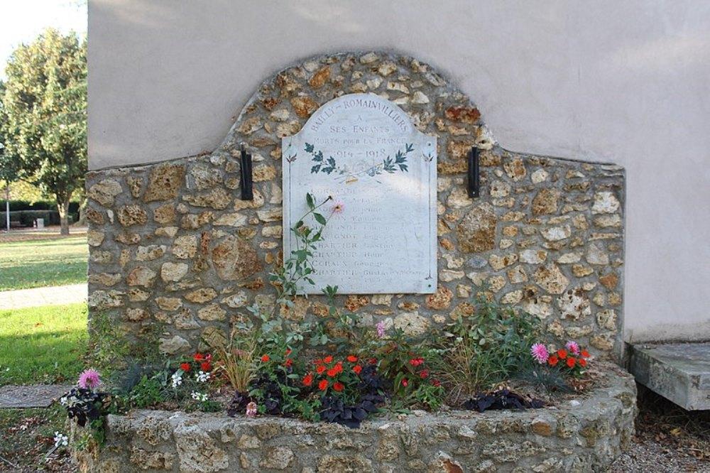 War Memorial Bailly-Romainvilliers
