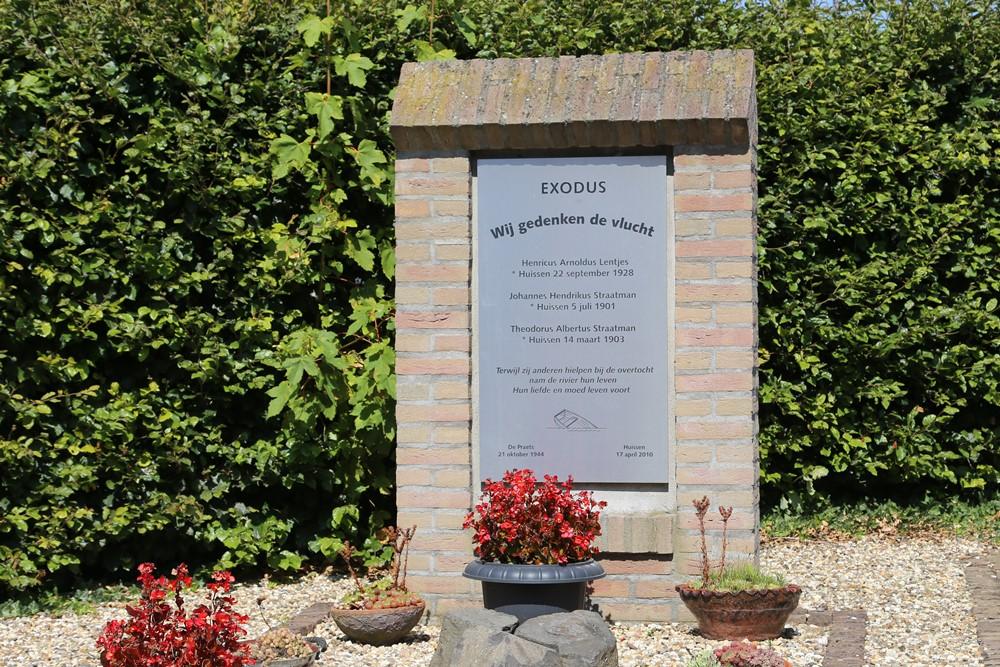 Monument Exodus Oude Begraafplaats Huissen