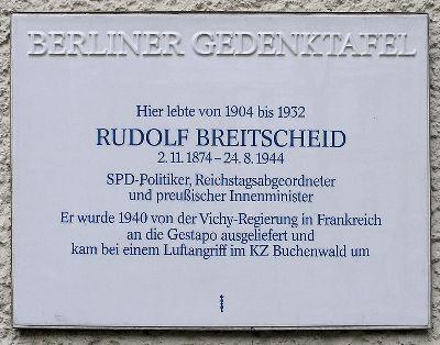 Plaque Rudolf Breitscheid