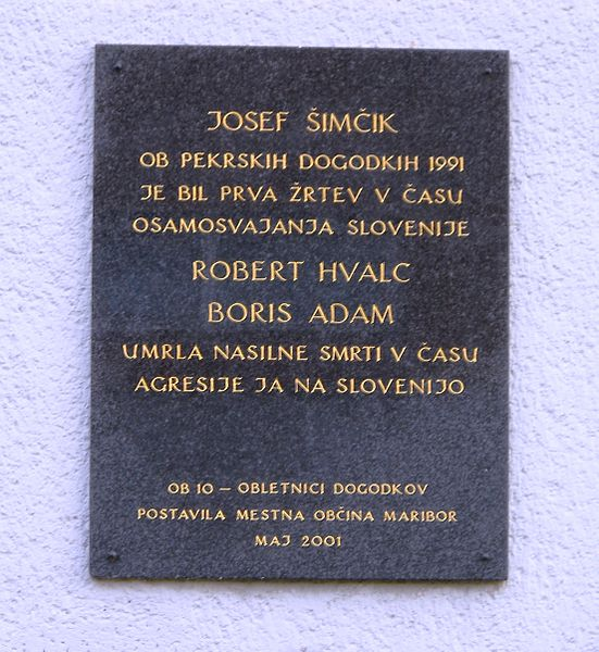 Plaque Josef Simcik