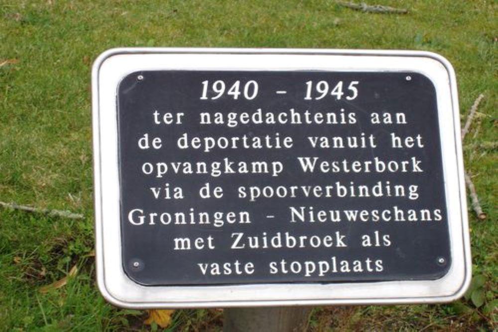 Joods Monument NS Station Zuidbroek
