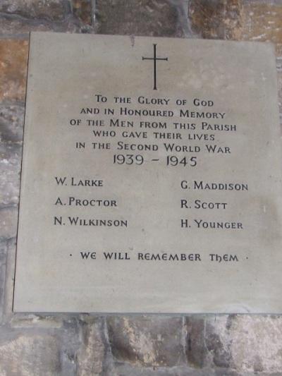 Oorlogsmonument Hartburn Church