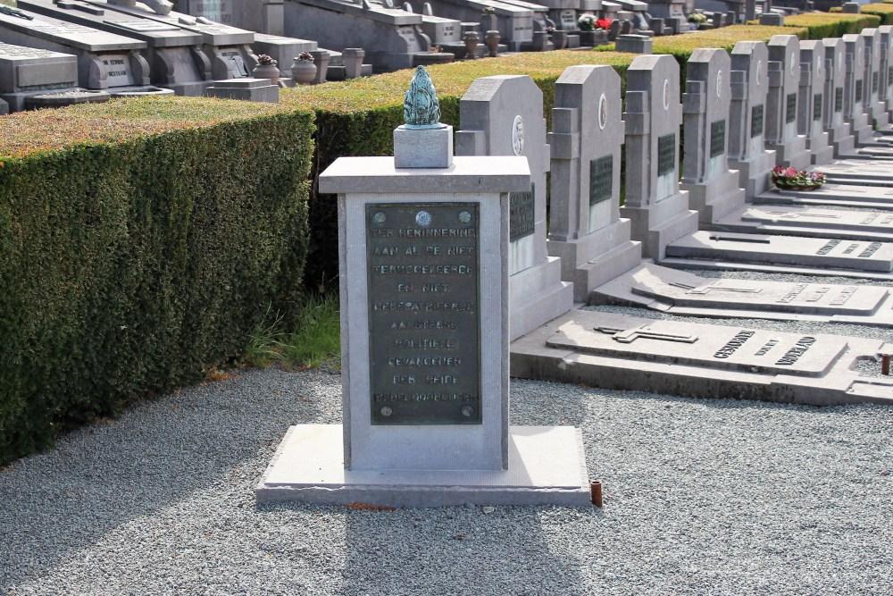 Monument Politieke Gevangenen Begraafplaats Aalst