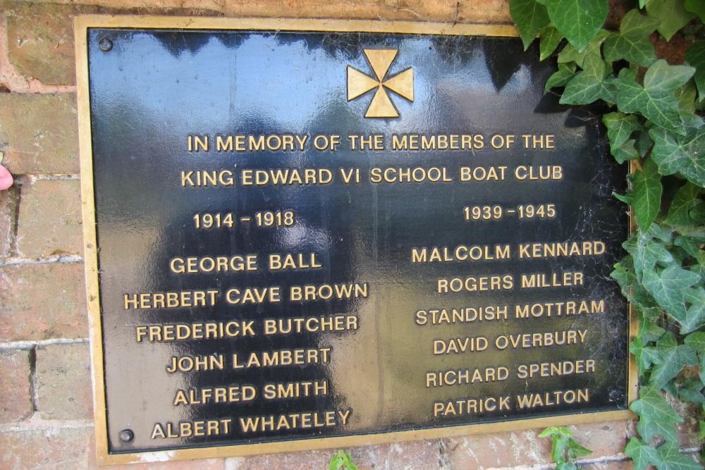 War Memorial King Edward VI School Boat Club