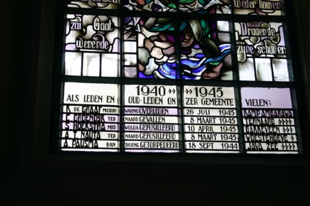 Memorial Window Dutch Reformed Church