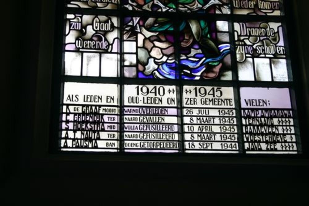 Herdenkingsraam Nederlands Hervormde Kerk
