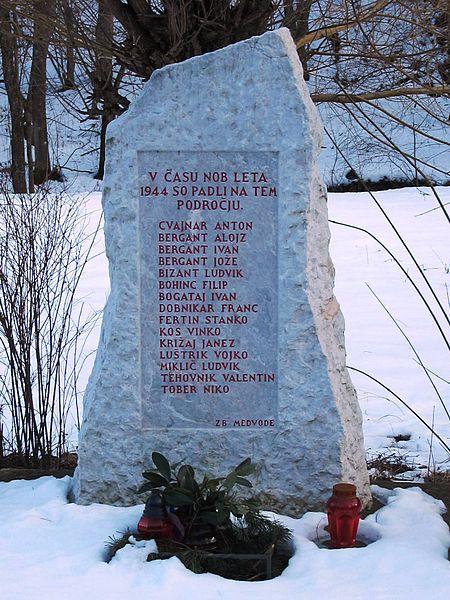 Memorial Killed Partisans Trnovec