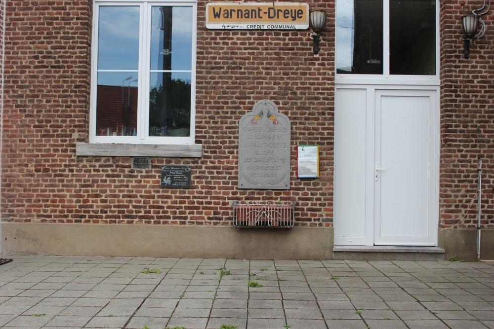 Commemorative Plate War Victims Warnant-Dreye
