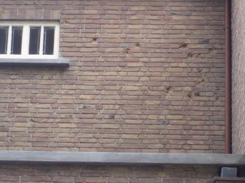 Bulletholes Juliana-church Dordrecht