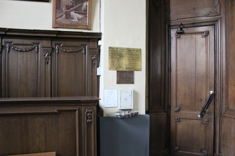 Commemoratives Plates Church Overboelare