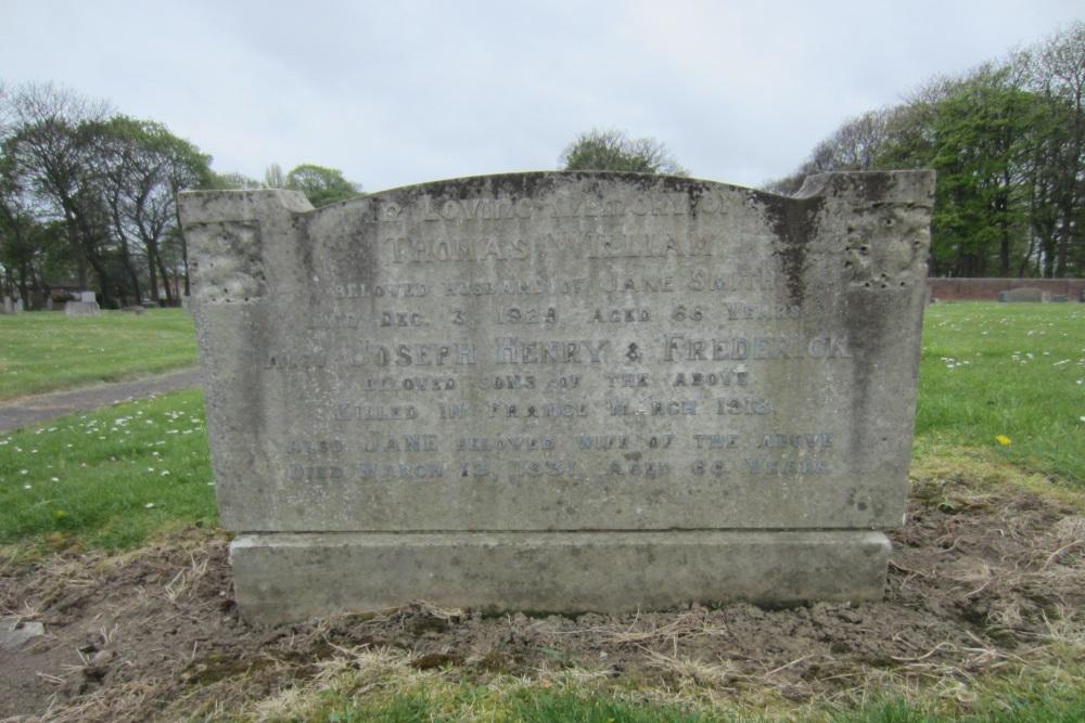 Herdenkingsteksten North Ormesby Cemetery