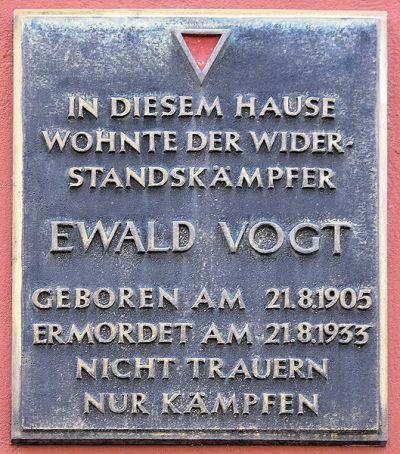 Plaque Ewald Vogt