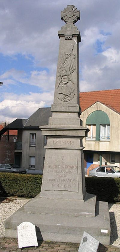 Oorlogsmonument Achiet-le-Grand