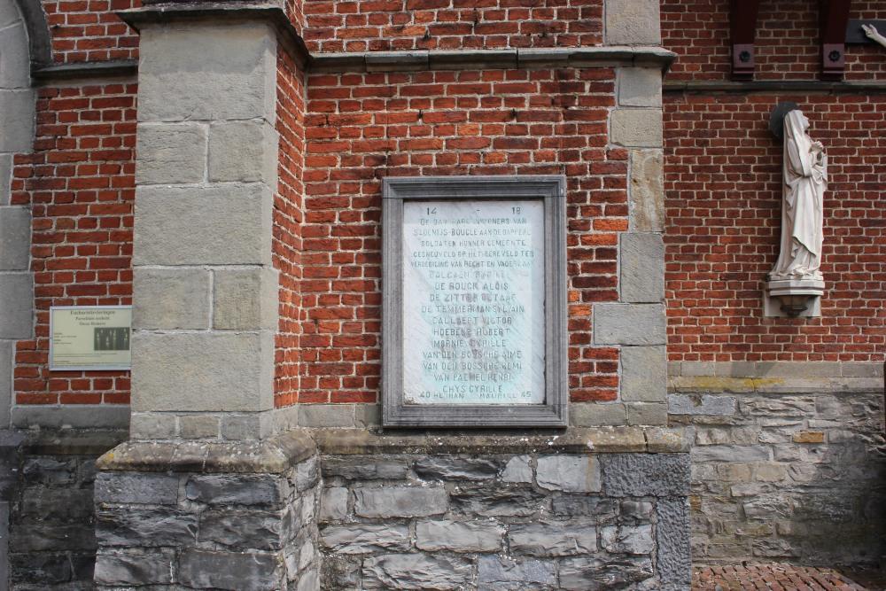 Commemorative Plate War Victims Sint-Denijs-Boekel