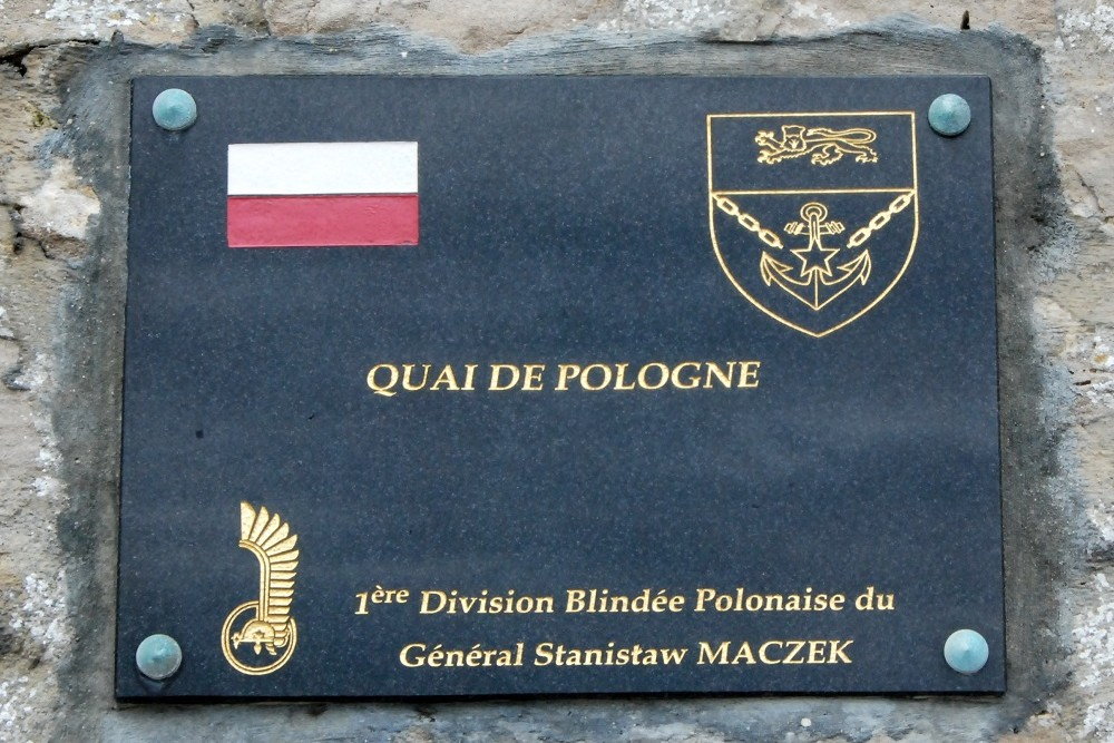 Plaquette Quai de Pologne