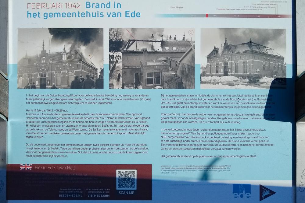 Informatiebord Brand Gemeentehuis Ede