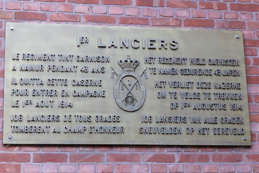 Plaque Regiment First Lancers