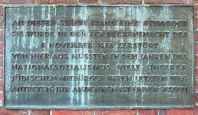 Plaquette Synagoge Moabit Levetzowstraße