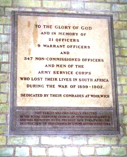 2nd Boer War Memorial Army Service Corps