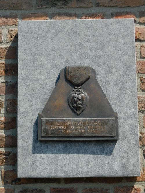 Plaquette 1Lt. Arthur Sugas Rooms Katholieke Kerk Maastricht