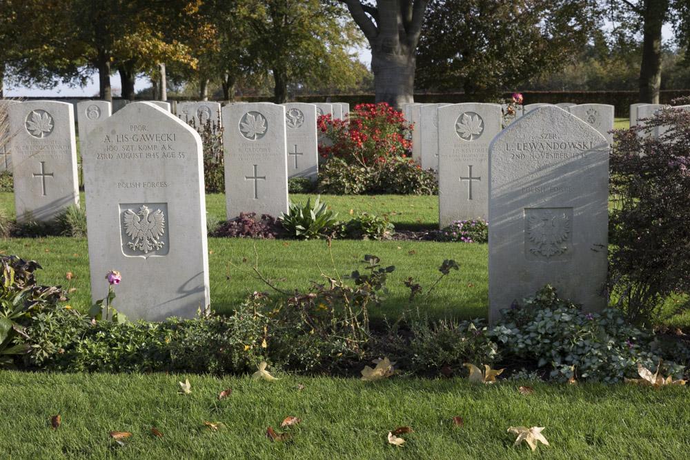 Poolse Oorlogsgraven Canadese Oorlogsbegraafplaats Groesbeek