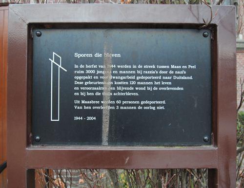 Memorial 'Tracks that were' Maasbree