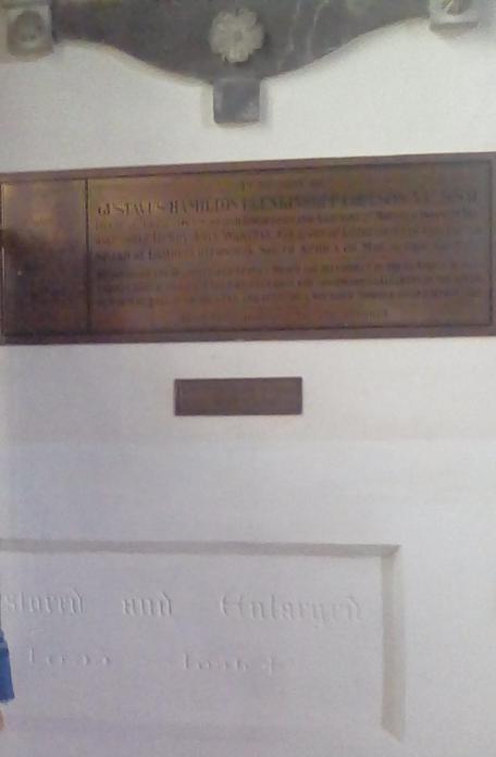 Plaquette Lieutenant Gustavus Hamilton Blenkinsopp Coulson, V.C., D.S.O.