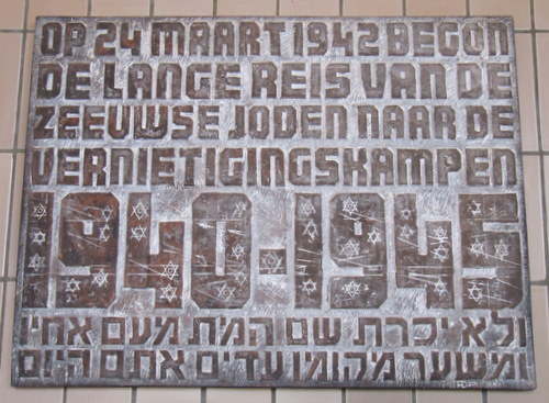 Commemorative Plaque Deported Jews of Zeeland