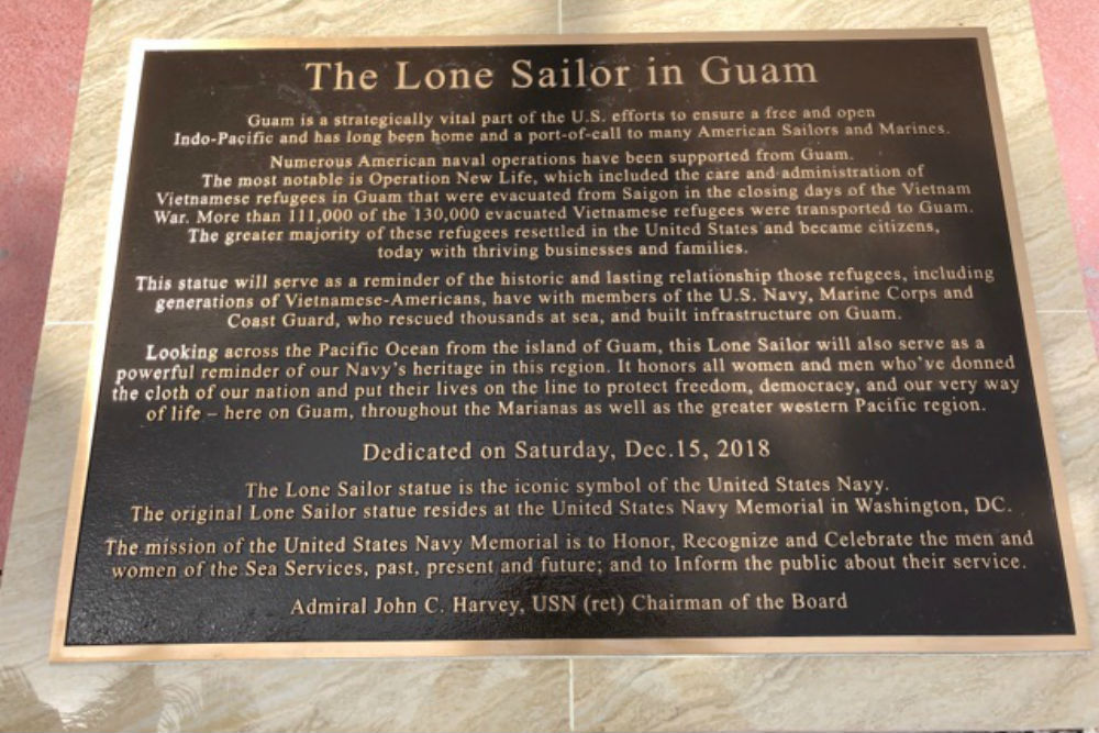 Memorial Lone Sailor Guam