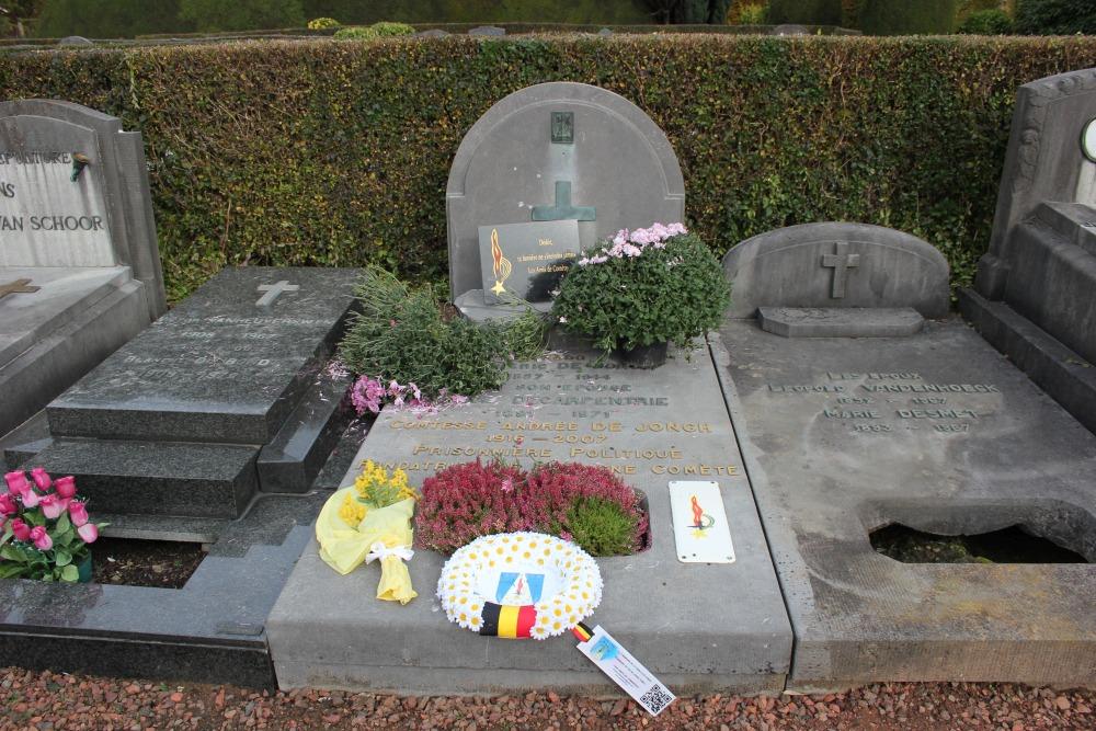 Grafsteen Gravin Andrée de Jongh