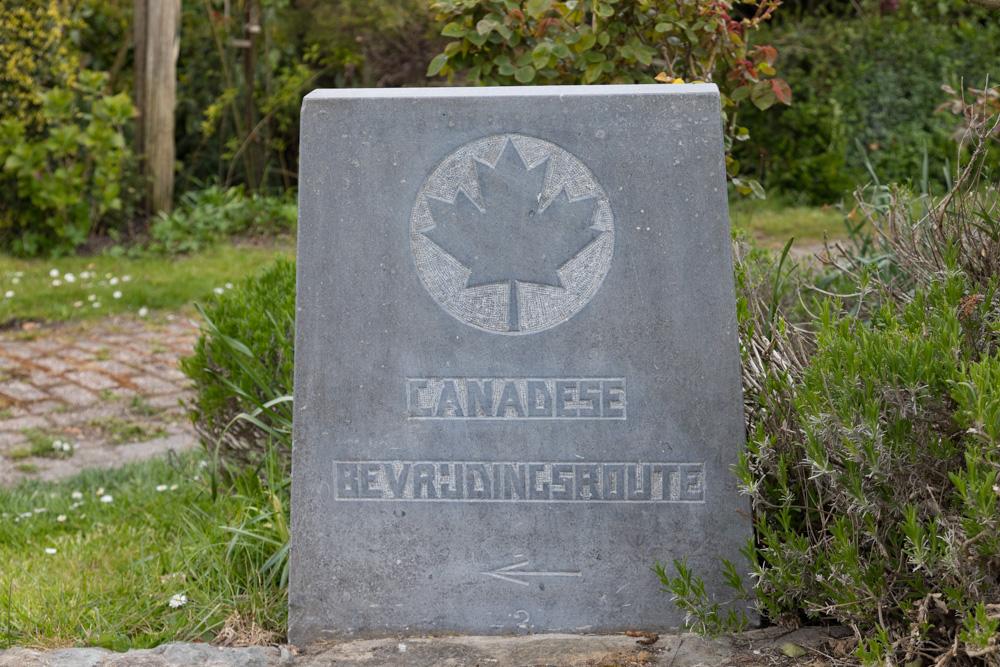 Wegmarkering nr. 3 Canadese Bevrijdingsroute