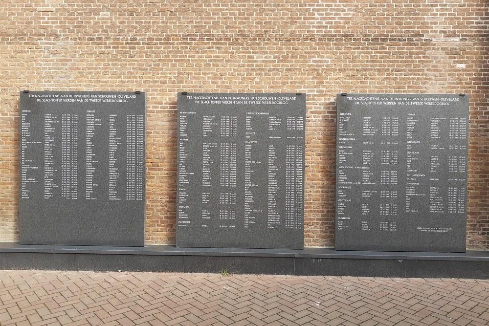 Memorial Plaque Victims of Schouwen-Duiveland