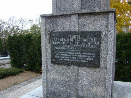 Graves Victims National Socialism Kalisz