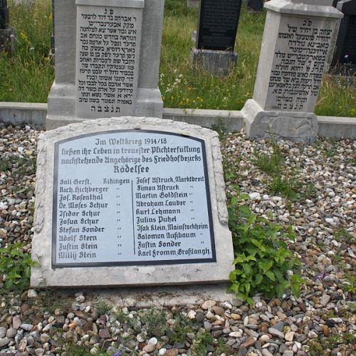 Oorlogsmonument Joodse Begraafplaats Rödelsee