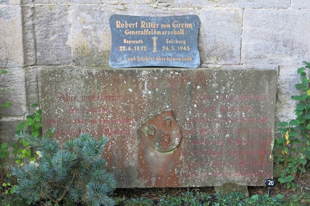 Plaque Robert von Greim Bebenhausen