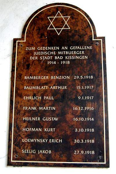 Plaquettes Joodse Begraafplaats Bad Kissingen