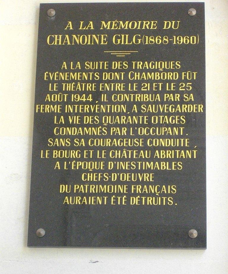 Plaque Chanoine Gilg