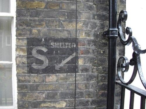 Aanduiding Schuilkelder Lord North Street