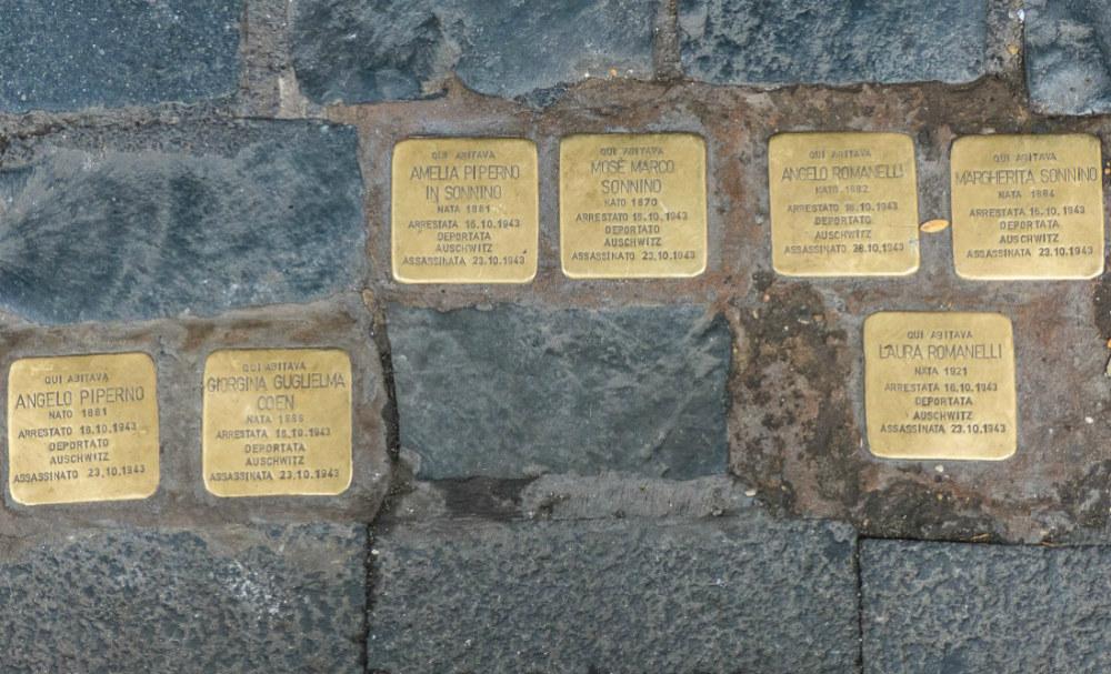 Stumbling Stones Via Arenula 41
