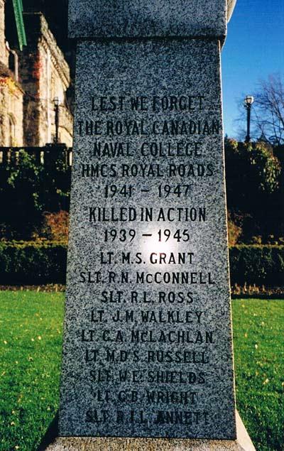 Royal Canadian Naval College Memorial Victoria