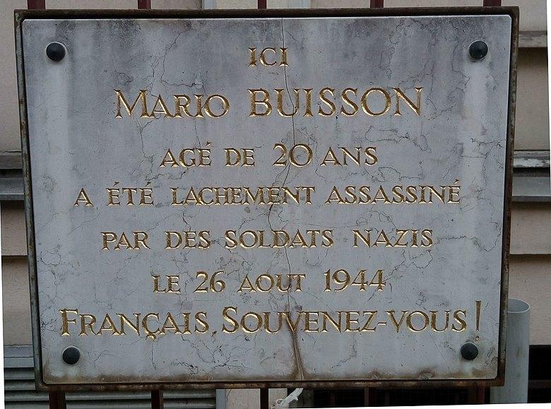 Plaquette Mario Buisson