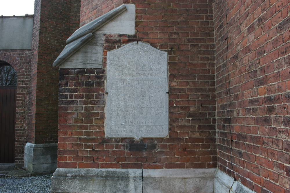 Gedenkplaten Kerk Wihogne
