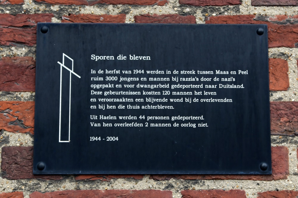 Monument 'Sporen die Bleven' Haelen
