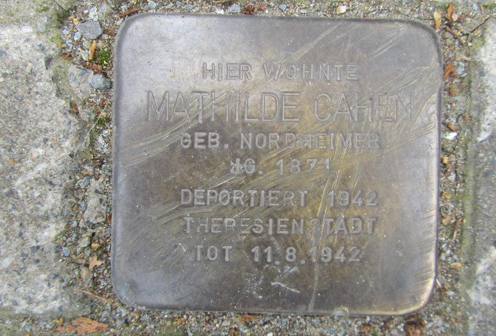 Stolperstein Theodor-Heuss-Ring 50